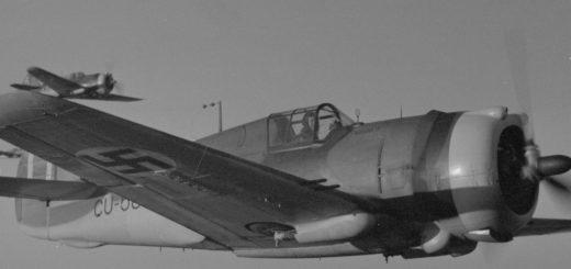 Curtiss Hawk 75 A -hävittäjä. SA-kuva.