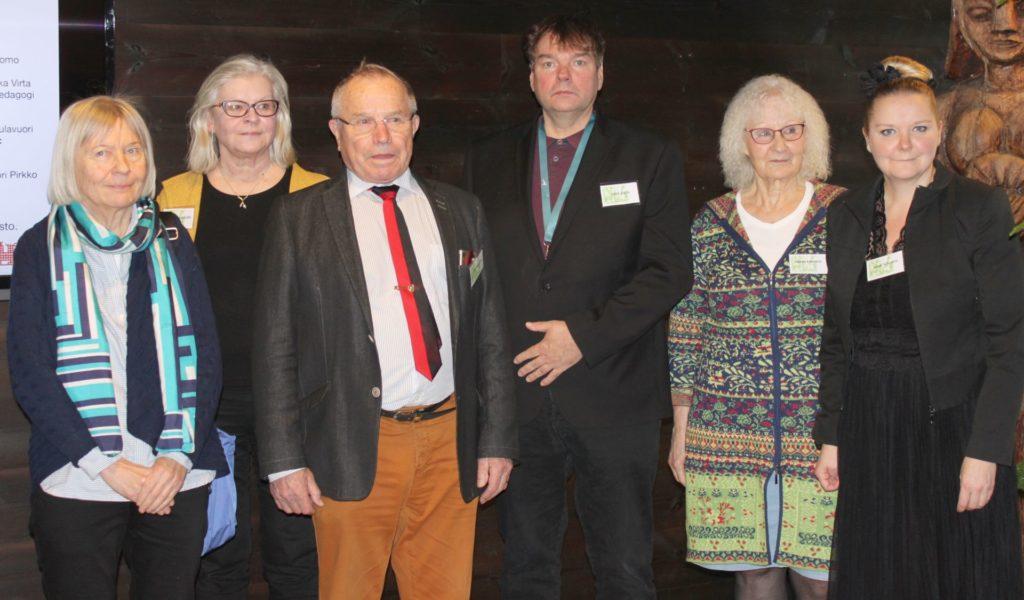 Seminaarin luennoitsijat: Anne Kuorsalo, Helena Sulavuori, Tuomo Hirvonen. Ilkka Virta, Pirkko Kanervo ja Anna Schukov.